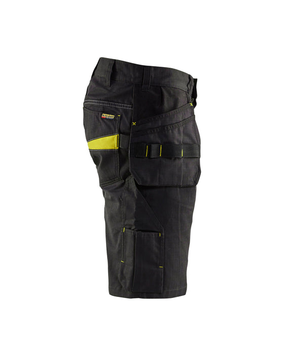 BLÅKLÄDER Shorts with tool pockets  Black/Yellow