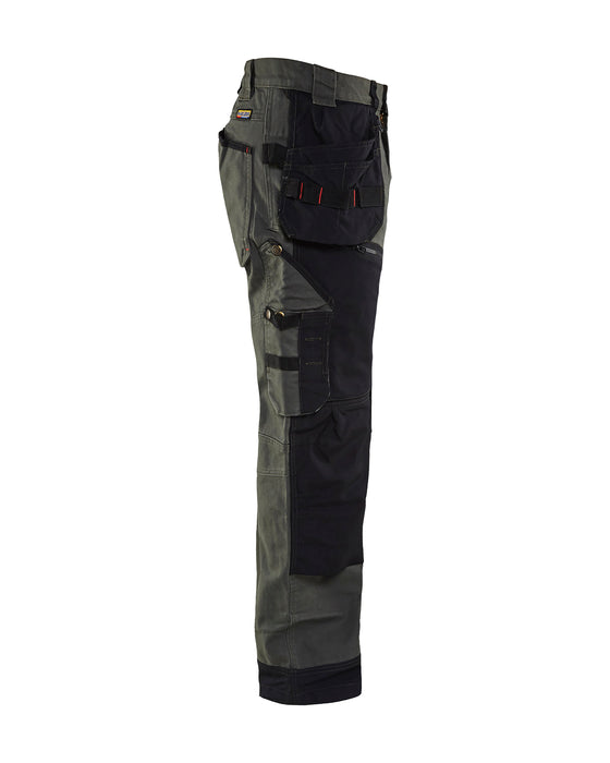 BLÅKLÄDER Trousers Craftsman X1500 Army green/Black