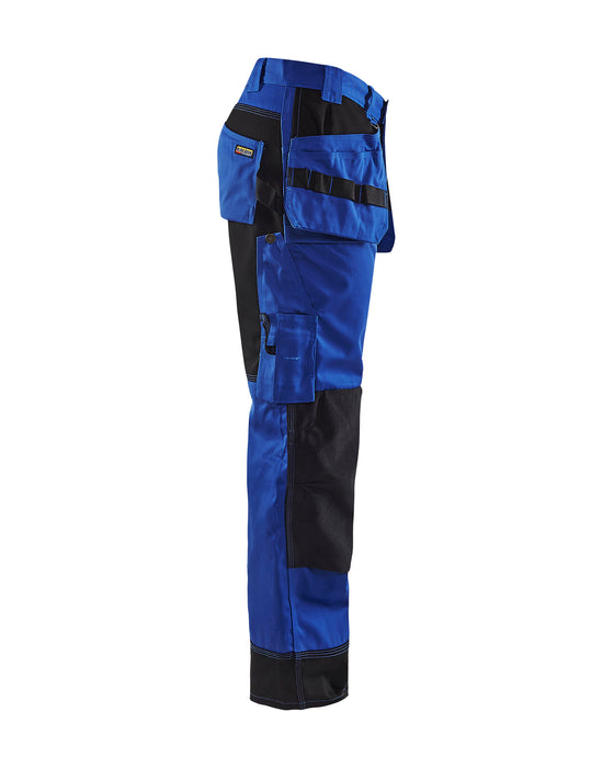 BLÅKLÄDER Trousers Cornflower blue/Black