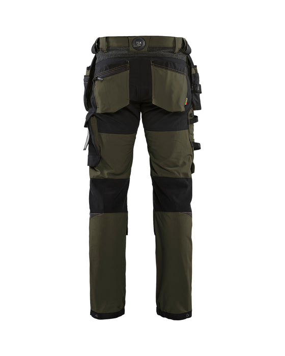 BLÅKLÄDER Craftsman Stretch Trouser Dark olive green /black