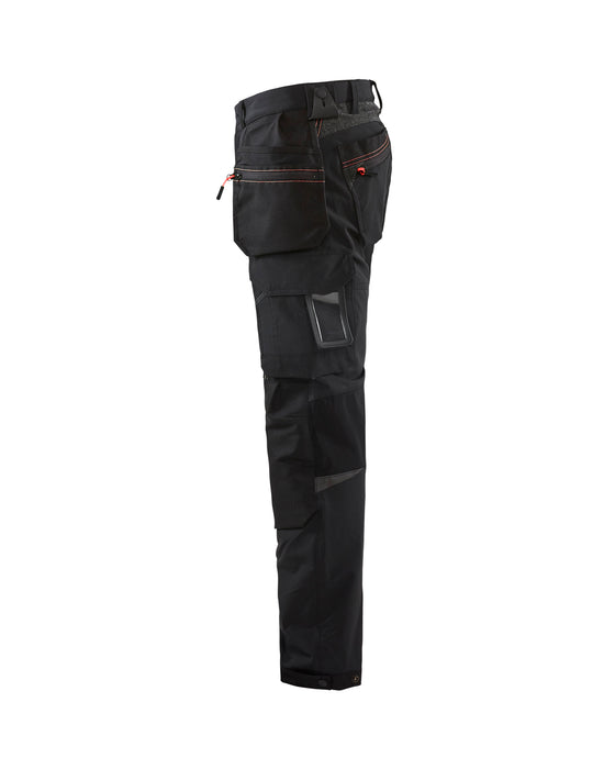 BLÅKLÄDER Craftsman Stretch Trouser Black/Red