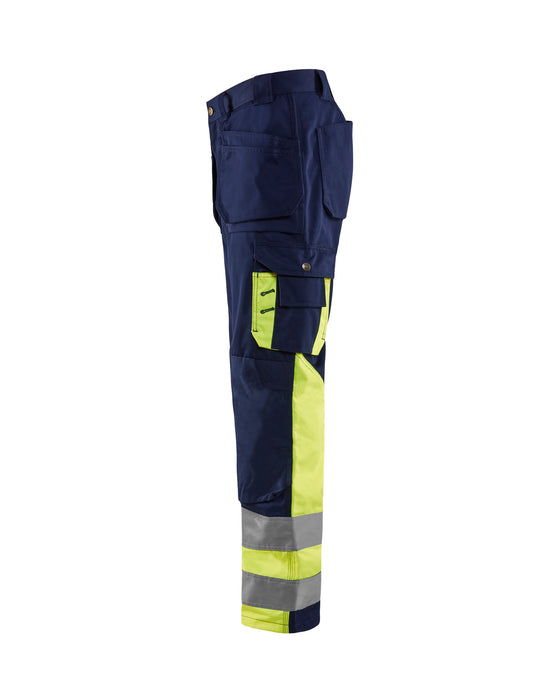 BLÅKLÄDER High visibility Trousers Navy blue/Yellow