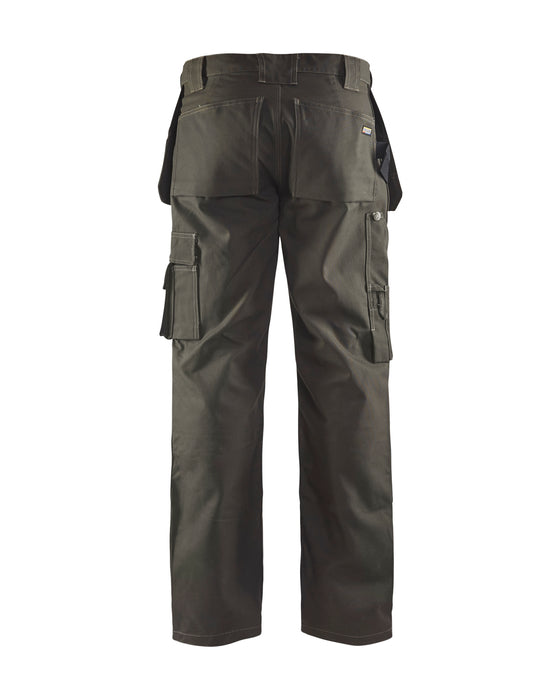 BLÅKLÄDER Trousers Dark olive green /black