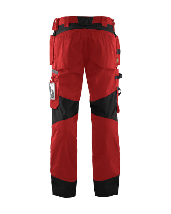 BLÅKLÄDER Craftsman trousers Red/Black