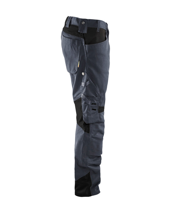 BLÅKLÄDER Craftsman Trousers without nailpockets Grey/Black