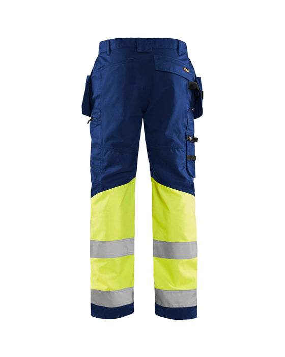 BLÅKLÄDER Hivis trouser class 1 with HTP Navy blue/Yellow