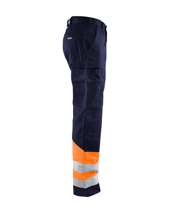 BLÅKLÄDER Highvisibility trouser Navy blue/orange