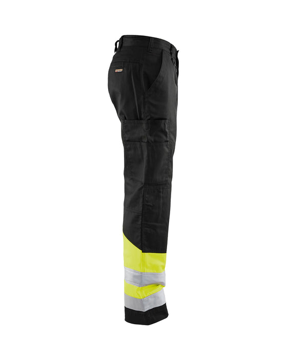 BLÅKLÄDER Highvisibility trouser Black/Yellow