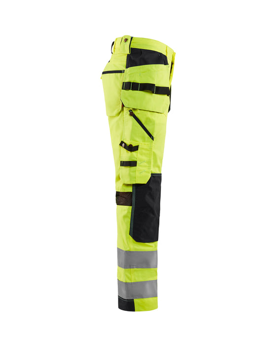 BLÅKLÄDER Hivis mesh trouser Yellow/Black