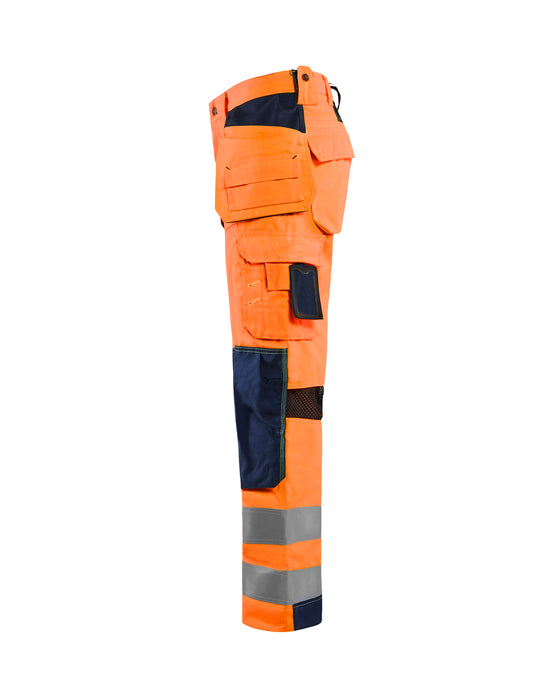 BLÅKLÄDER Hivis mesh trouser Orange/Navy blue