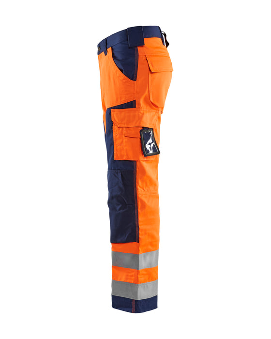 BLÅKLÄDER Highivs trouser class 2 Orange/Navy blue