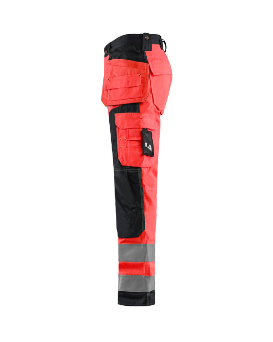 BLÅKLÄDER Highvisibility craftsman trouser Red/black