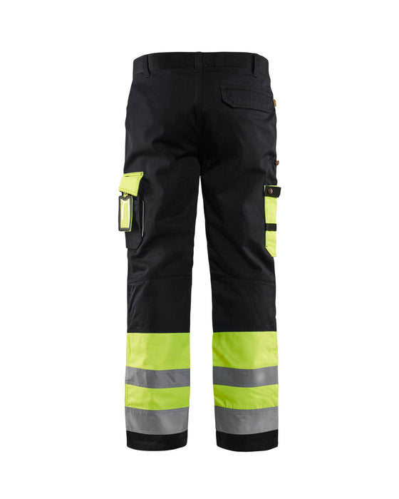 BLÅKLÄDER High visibility Trousers Yellow/Black