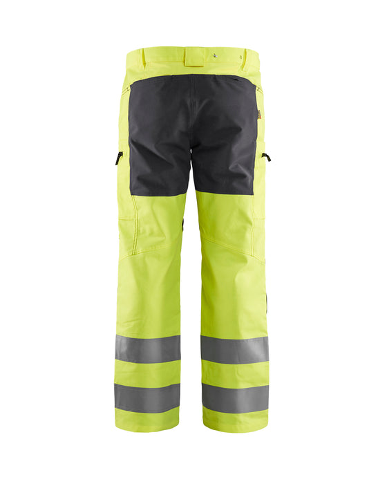 BLÅKLÄDER Hivis stretch trouser class 2 Hivis Yellow/Grey