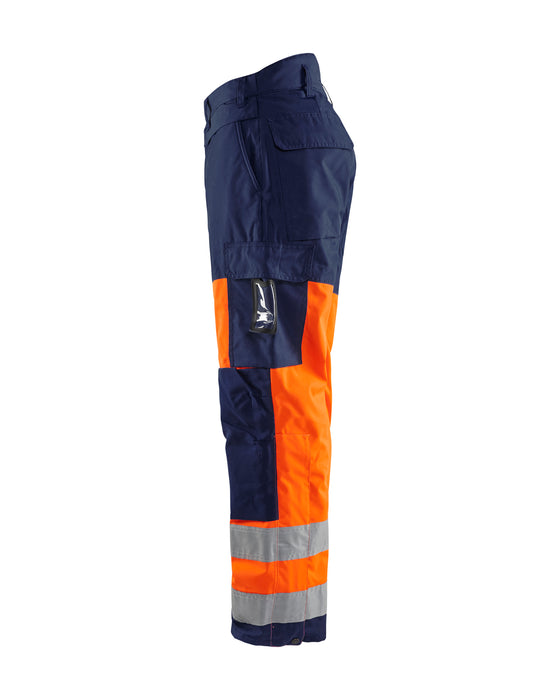 BLÅKLÄDER High vis Winter Trousers Orange/Navy blue