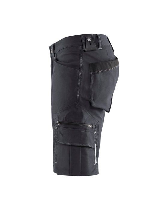 BLÅKLÄDER Craftsman Shorts  4-way stretch X1900 Darkgrey/black