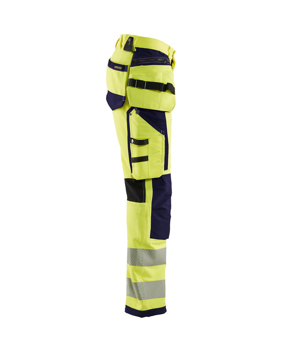 BLÅKLÄDER Hivis 4way stretch trouser Yellow/navy blue
