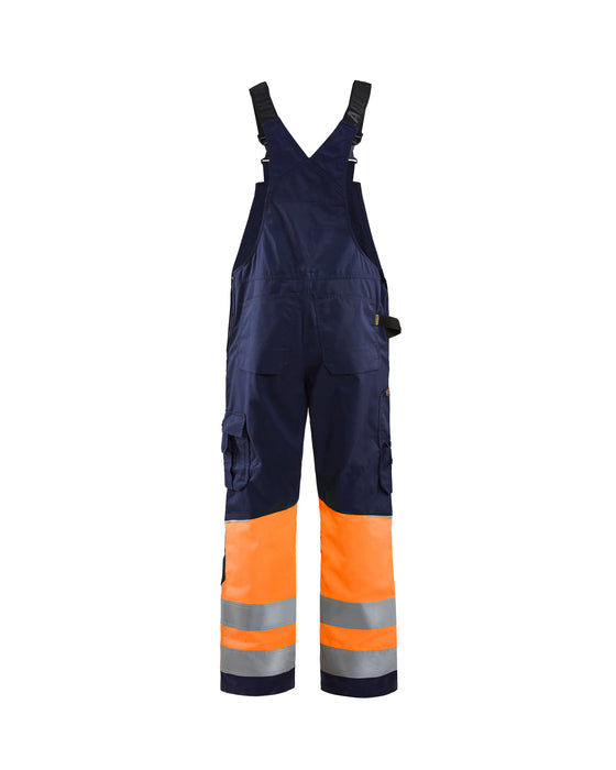 BLÅKLÄDER Hivis bib trouser class 1 Navy blue/orange