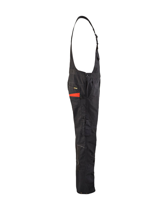 BLÅKLÄDER Bib trouser with knee pocket Service plus Black/Red