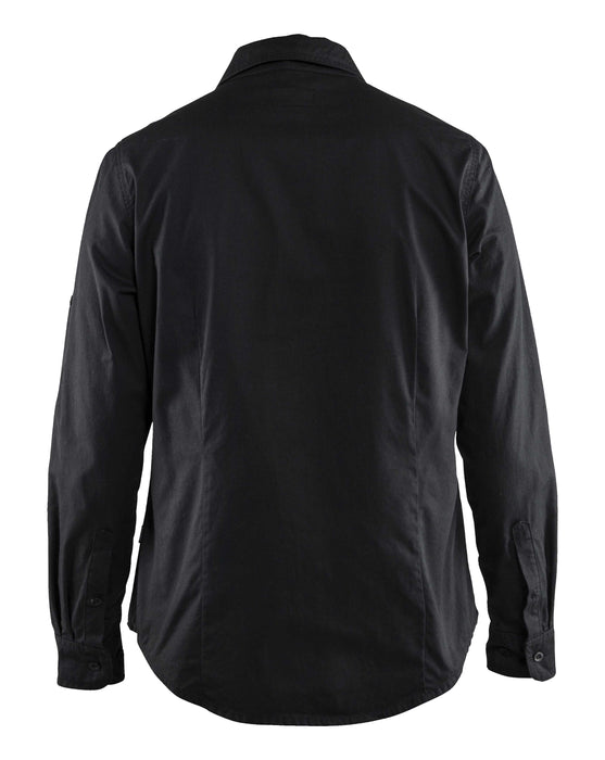 BLÅKLÄDER Ladies twill shirt Black