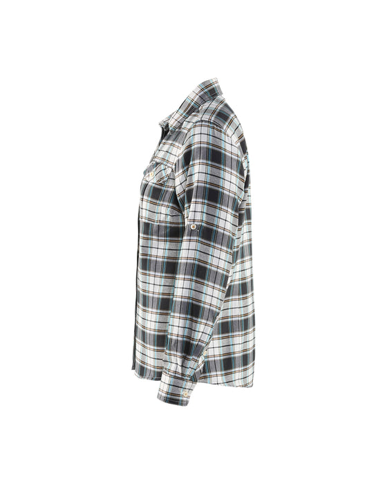 BLÅKLÄDER Ladies flannel shirt Check Black/Off White