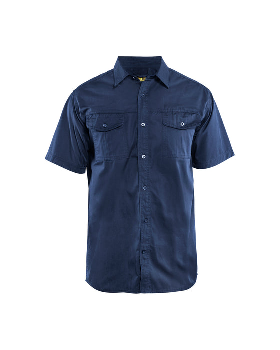 BLÅKLÄDER Twill shirt Navy blue