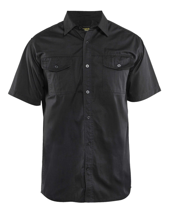 BLÅKLÄDER Twill shirt Black