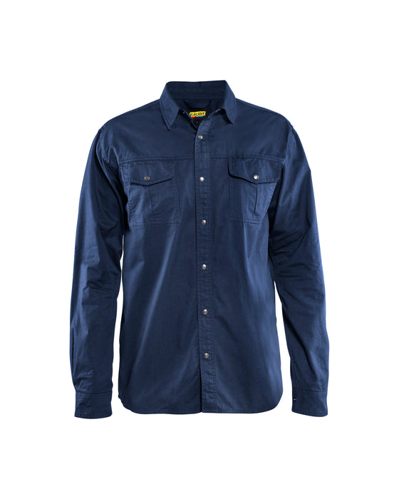 BLÅKLÄDER Twills shirt in cotton Navy blue