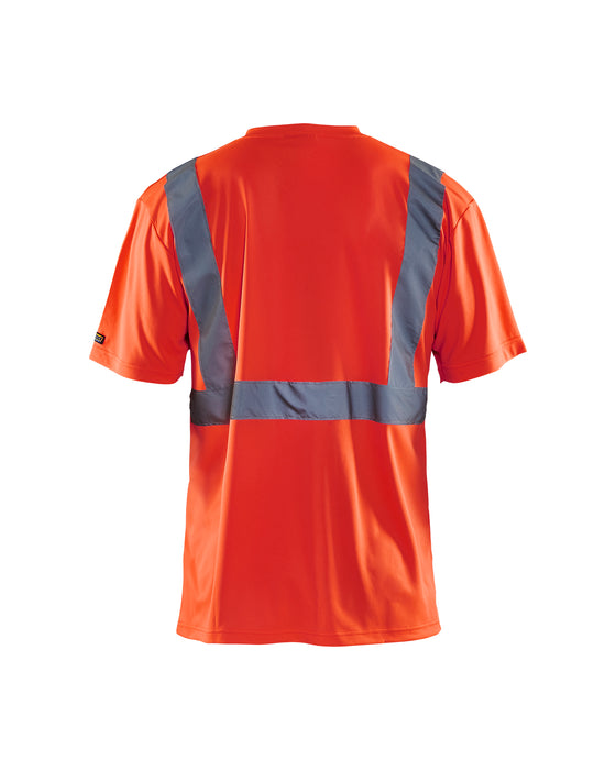 BLÅKLÄDER High visibility T-Shirt Red highviz