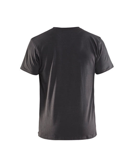 BLÅKLÄDER T-Shirt, V-Neck Dark grey
