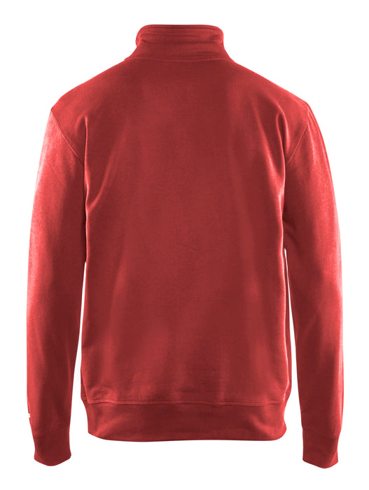 BLÅKLÄDER Sweatshirt half zip Red