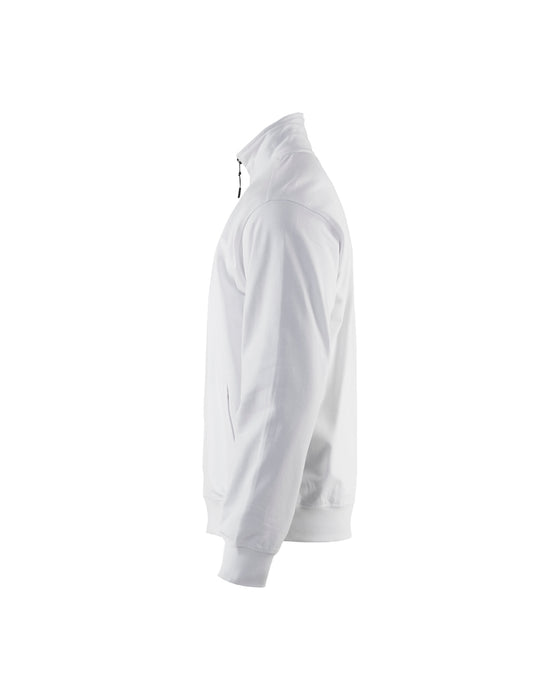 BLÅKLÄDER Sweatshirt with Zip White