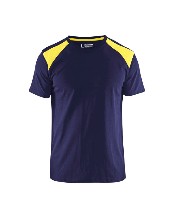 BLÅKLÄDER T-shirt  Navy Blue/Yellow