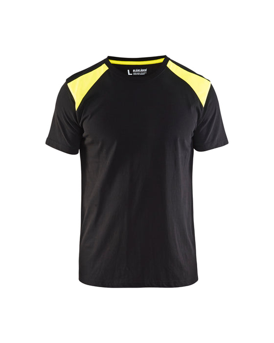 BLÅKLÄDER T-shirt  Black/Yellow