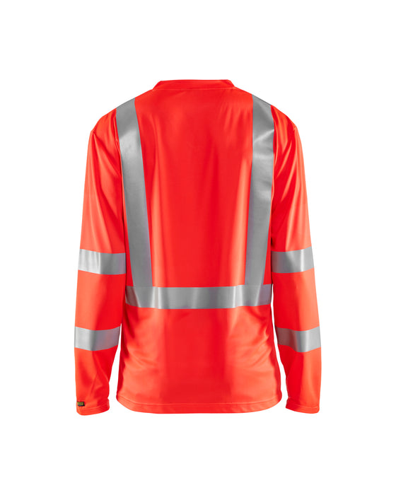 BLÅKLÄDER Highvisibility long sleeve t-shirt Red highviz