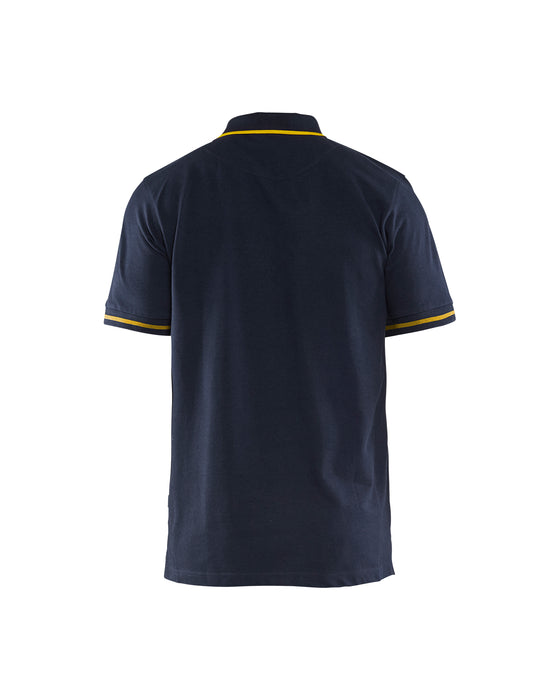 BLÅKLÄDER Poloshirt  Dark navy/Yellow