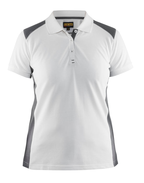 BLÅKLÄDER Ladies´ Polo Shirt White/Grey