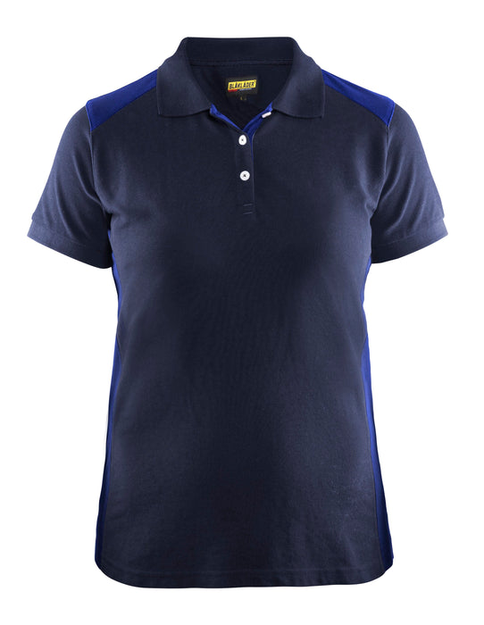 BLÅKLÄDER Ladies´ Polo Shirt Navy blue/Cornflower blue