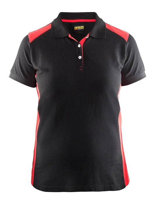 BLÅKLÄDER Ladies´ Polo Shirt Black/Red