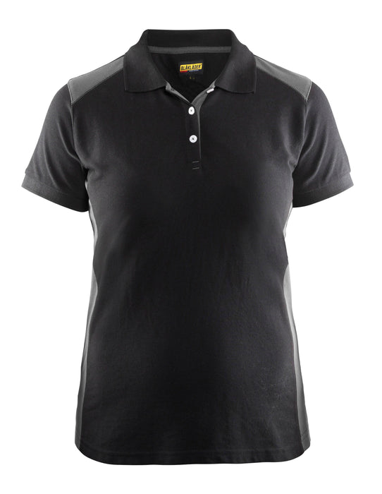 BLÅKLÄDER Ladies´ Polo Shirt Black/Grey