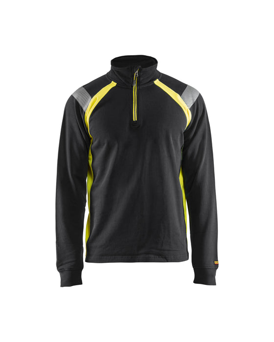 BLÅKLÄDER Visible halfzip Black/Yellow