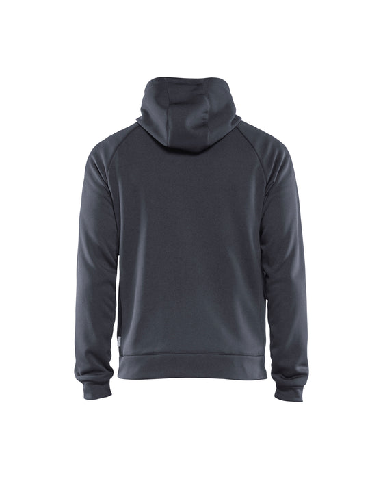 BLÅKLÄDER Sweatshirt with quilt at front Mid grey/Black