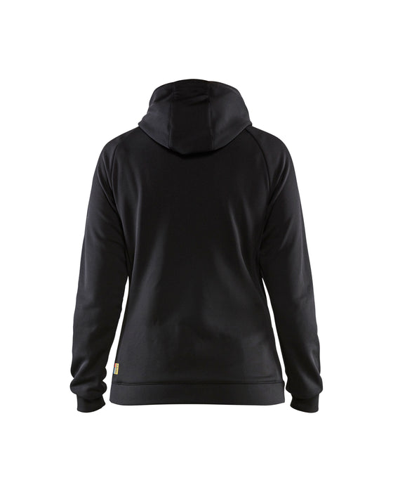 BLÅKLÄDER Sweatshirt with quilt at front Women Black/Dark grey