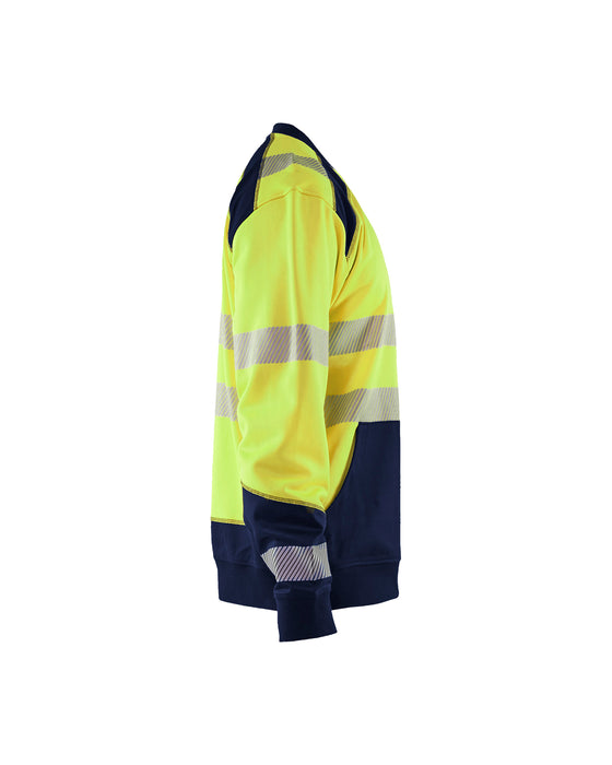 BLÅKLÄDER Hivis two col sweatshirt Yellow/navy blue