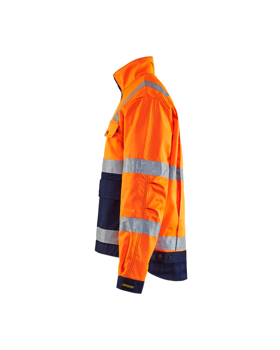 BLÅKLÄDER High vis Jacket Orange/Navy blue