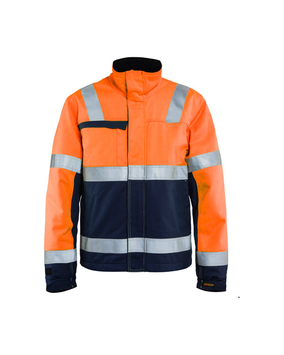 BLÅKLÄDER Multinorm Craftsmen Winterjacket Orange/Navy blue