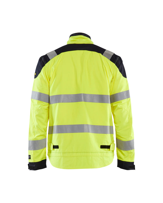 BLÅKLÄDER Inherent Multinorm jacket Yellow/navy blue