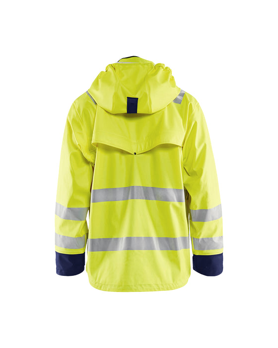 BLÅKLÄDER Hi-vis Rain jacket, heavy weight LEVEL 2 Yellow/navy blue