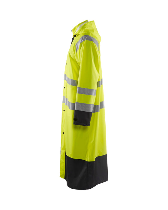BLÅKLÄDER High vis Rain Coat LEVEL 1 Yellow/Black