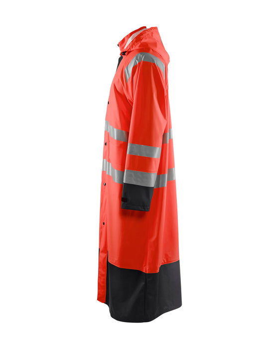BLÅKLÄDER High vis Rain Coat LEVEL 1 Red/black
